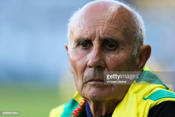 Jean Claude Suaudeau former legendary headcoaches of Nantes during the Ligue 1 match between Nantes and Stade Rennes at Stade de la Beaujoire on...