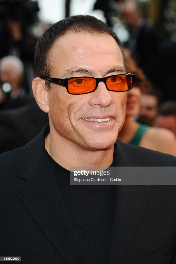 Jean Claude Van Damme at the Premiere for 'You will meet a tall dark stranger' during the 63rd Cannes International Film Festival.