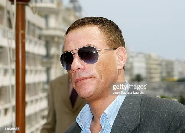 Jean Claude Van Damme during 2003 Cannes Film Festival JeanClaude Van Damme Photo Call at Cannes in Cannes France