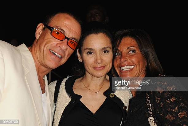 Jean Claude van Damme, Gladys Portugues and guest attends the Variety Celebrates Ashok Amritraj event held at the Martini Terraza during the 63rd...