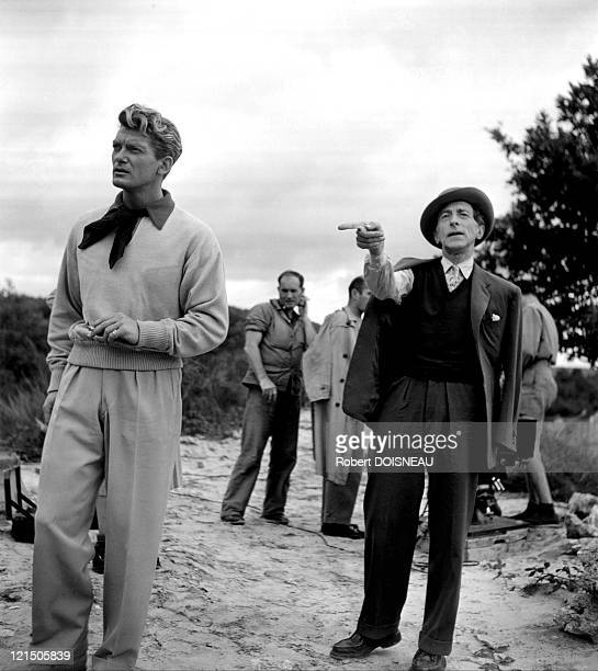 Jean Cocteau Directing Actor And Friend Jean Marais During The Shooting Of His Film 'Orphee'