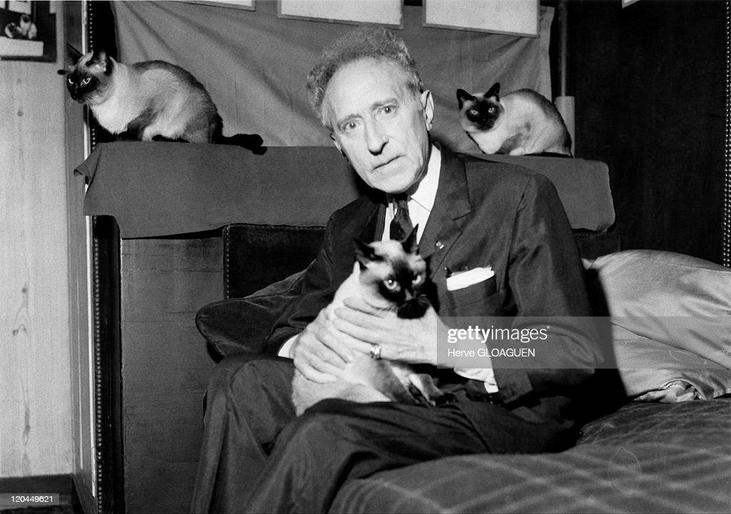 Jean Cocteau In Paris, France In 1962 - : News Photo