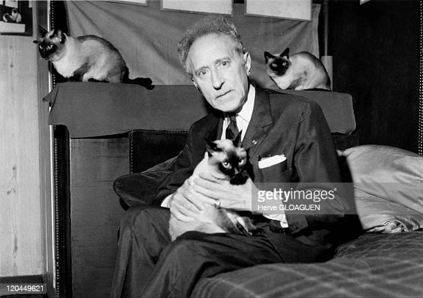 Jean Cocteau in Paris France in 1962