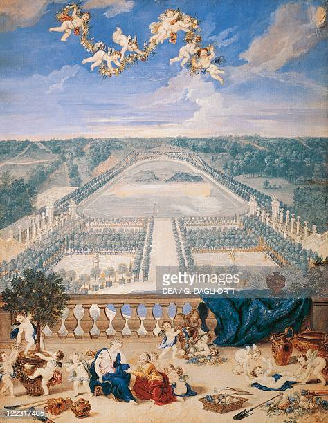 Jean Cotelle Gardens of the Versailles Castle