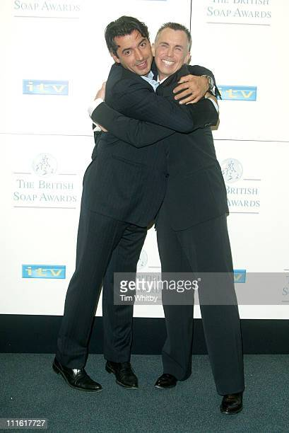 Jean Cristophe Novelli and Gary Rhodes during The 2005 British Soap Awards Press Room at BBC Television Centre in London Great Britain