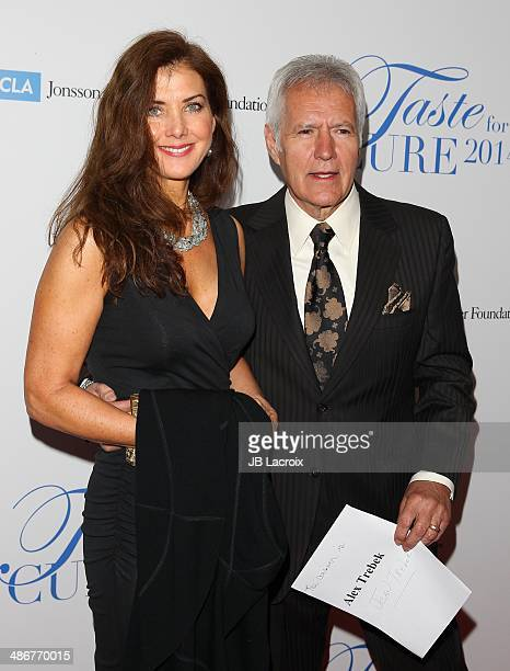 Jean Currivan Trebek and Alex Trebek attend the 19th Annual Jonsson Cancer Center Foundation's Taste For A Cure on April 25 2014 in Beverly Hills...