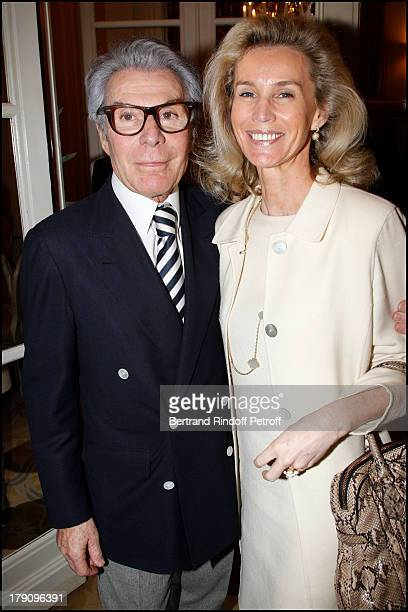 Jean Daniel Lorieux and companion Laura Restelli at The Hotel Plaza Athenee Cocktail Party In Conjunction With Bertrand De Saint Vincent's Book...