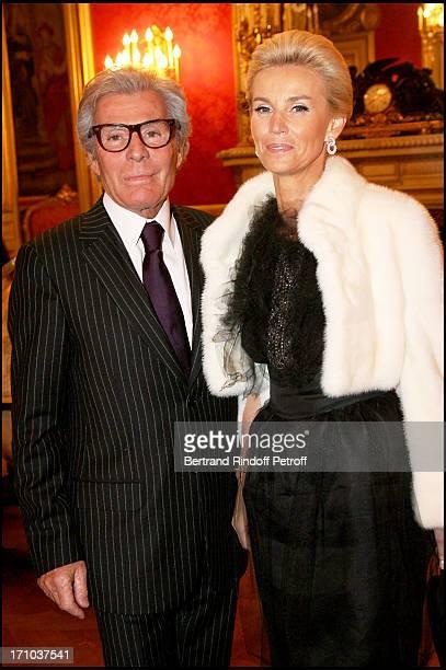 Jean Daniel Lorieux and Laura Restelli at The Association Adicare Gala Dinner Held At The Salon De L'Horloge Du Palais Des Affaires Etrangeres.