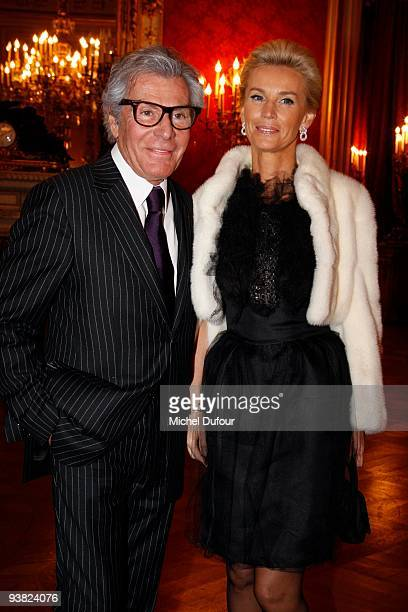 Jean daniel Lorieux and Laura Restelli attend the gala dinner to benefit ADICARE hosted by Professor Christian Cabrol at Hotel de Lassay on December...