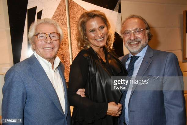 Jean Daniel Lorieux Not A Gallery director Natacha Dassault and her husband Olivier Dassault and Jean Louis Haguenauer attend JonOne Paintings...