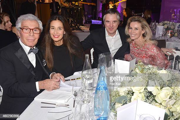 Jean Daniel Lorieux, Yara Lapidus, Olivier Lapidus and Laura Restelli Brizard attend the 'Love Charity Chrismas Dinner' To Benefit Of Children Of...