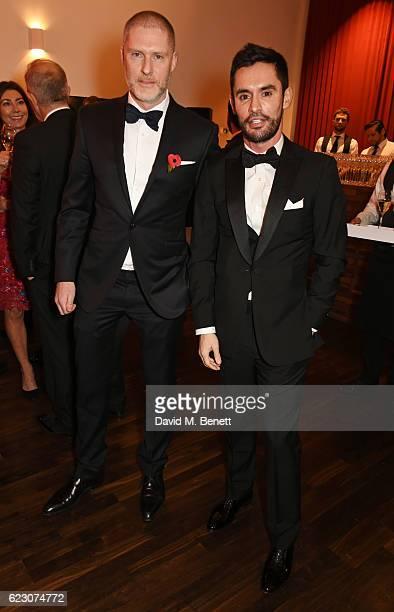 Jean David Malat and JeanBernard FernandezVersini attend a cocktail reception at The 62nd London Evening Standard Theatre Awards recognising...