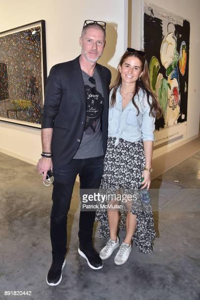 Jean David Malat and Lara Ustunberk attend Art Basel Miami Beach Private Day at Miami Beach Convention Center on December 6 2017 in Miami Beach...