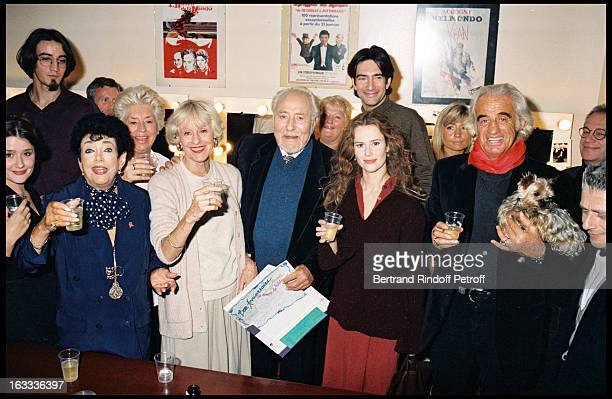 Jean Davy and wife Odile Mallet Micheline Dax Florence Darel and Jean Paul Belmondo