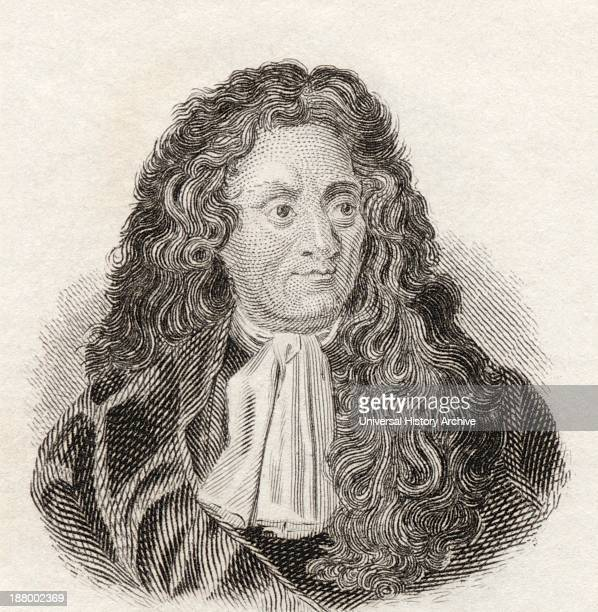 Jean De La Fontaine, 1621 To 1695. French Fabulist And Poet. From Crabb's Historical Dictionary Published 1825.