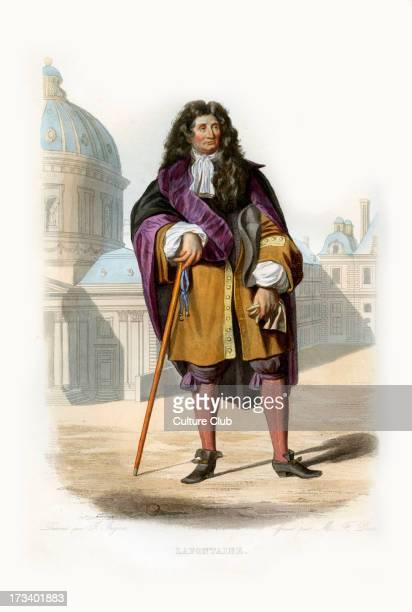 Jean de La Fontaine Famous French fabulist and poet16211695 Engraving by M F Dien