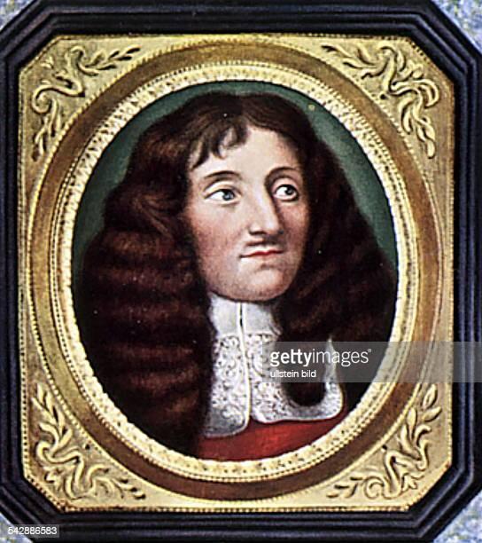 Jean de La Fontaine*0807162113041695Writer FranceMiniature after Jean Petitot