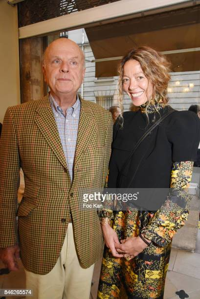 Jean de Rohan Chabot and Nathalie Ziegler Pasqua attend Nathalie Ziegler Pasqua Sculptures Exhibition Preview at Galerie Mougin on September 12, 2017...