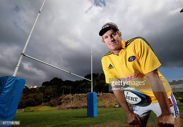 Jean de Villiers of the Stormers poses during a Stormers Super Rugby training session at Auckland Grammar School on March 11 2014 in Auckland New...