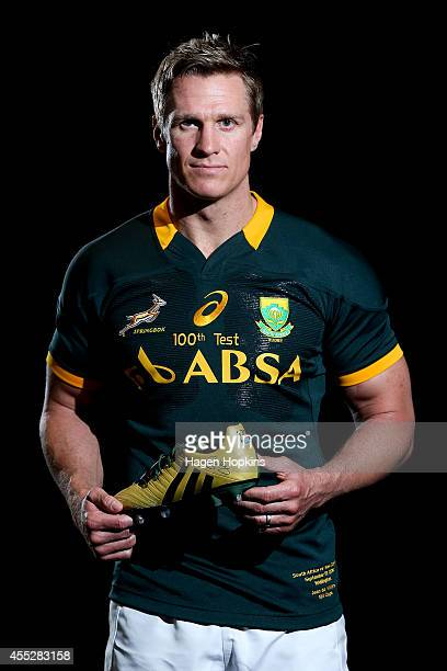 Jean de Villiers poses during a South Africa Springboks Captain's Run on September 12 2014 in Wellington New Zealand