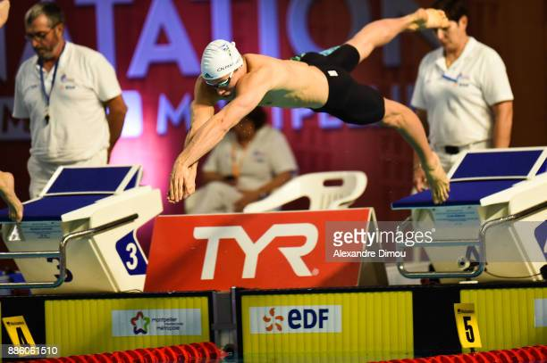 Jean Dencausse in Final 50m Breatstroke of the French National Swimming Championships on December 3 2017 in Montpellier France