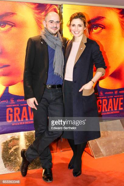 Jean des Forets and Juliey Gayet attend the 'Grave' Paris Premiere at UGC Cine Cite des Halles on March 14 2017 in Paris France