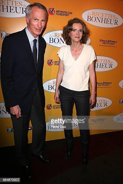 Jean Dominique Senard and Nathalie Kosciusko Morizet attend 'the HundredFoot Journey' Paris Premiere at Cinema Gaumont Marignan on September 7 2014...