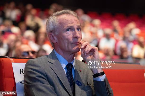Jean Dominique Senard attends the French building materials giant SaintGobain group's general meeting on June 7 2018 in Paris France The general...