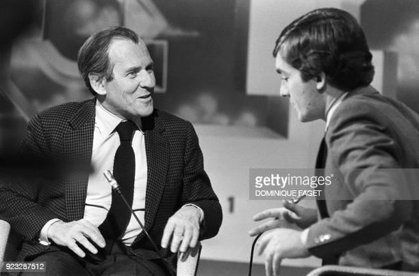 Jean d'Ormesson né en 1925 écrivain journaliste et membre de l'Académie française est interviewé le 07 mars 1980 par JeanPierre Pernaut lors d'une...
