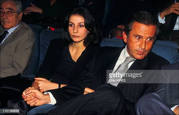 Jean Drucker and his daughter Marie at Premiere of K in Paris France on June 24 1997
