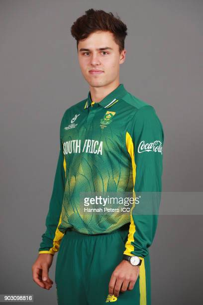 Jean du Plessis poses during the South Africa ICC U19 Cricket World Cup Headshots Session at Rydges Christchurch on January 8 2018 in Christchurch...