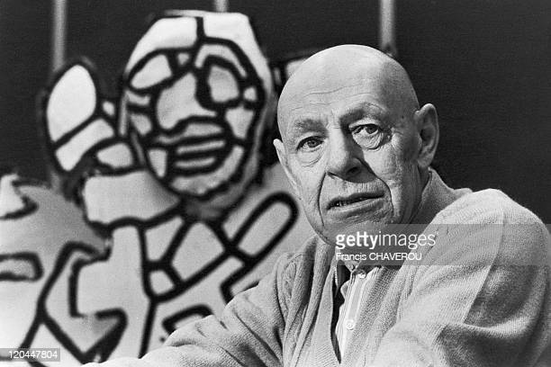 Jean Dubuffet in Vincennes, France in 1972 - In his workshop.