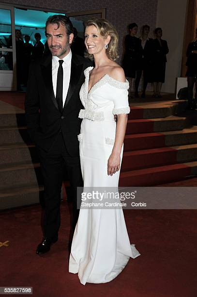 Jean Dujardin and Alexandra Lamy at Winners Dinner Arrivals during the 65th Cannes International Film Festival