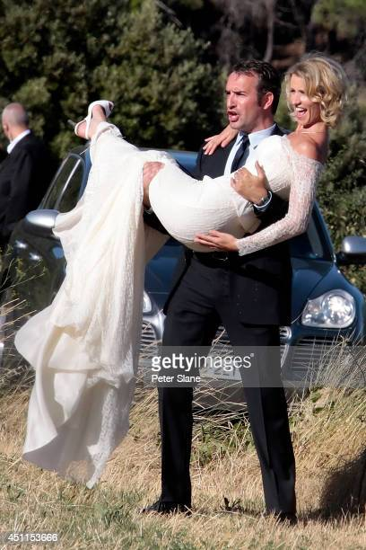 Jean Dujardin and Alexandra Lamy get married on July 26 2009 in Anduze France