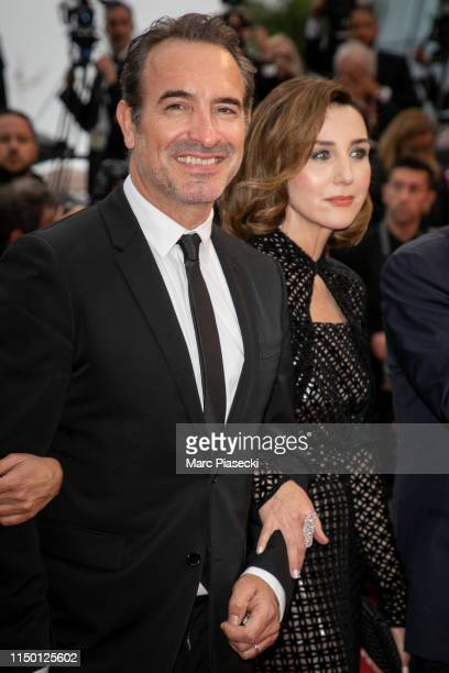 Jean Dujardin and Elsa Zylberstein attend the screening of Les Plus Belles Annees D'Une Vie during the 72nd annual Cannes Film Festival on May 18...