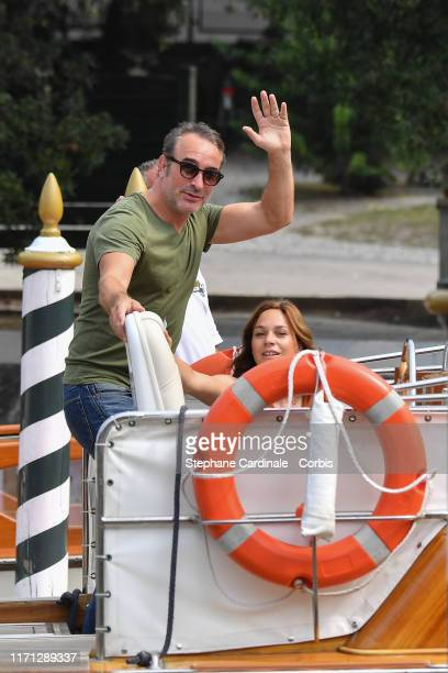 Jean Dujardin and Nathalie Pechalat are seen arriving at the 76th Venice Film Festival on August 31 2019 in Venice Italy