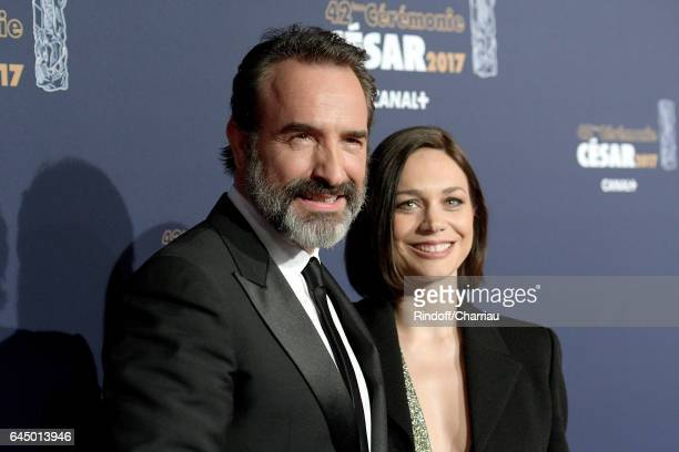 Jean Dujardin and Nathalie Pechalat arrive at the Cesar Film Awards Ceremony at Salle Pleyel on February 24 2017 in Paris France