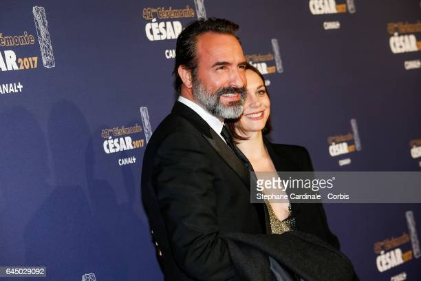 Jean Dujardin and Nathalie Pechalat arrives at the Cesar Film Awards 2017 at Salle Pleyel on February 24 2017 in Paris France