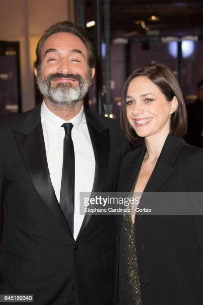 Jean Dujardin and Nathalie Pechalat attend the Cesar Film Awards 2017 ceremony at Salle Pleyel on February 24 2017 in Paris France