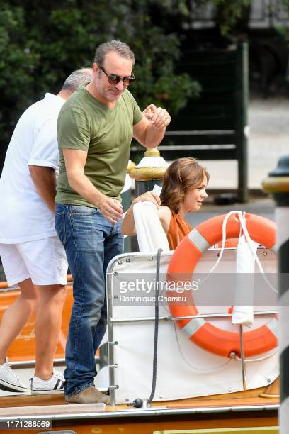 Jean Dujardin and Nathlie Pechalat are seen arriving at the 76th Venice Film Festival on August 31 2019 in Venice Italy