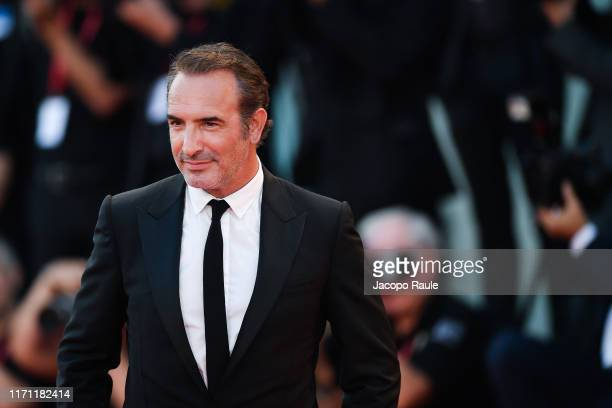 Jean Dujardin attends J'Accuse premiere during the 76th Venice Film Festival at Sala Grande on August 30 2019 in Venice Italy