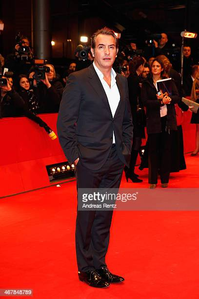 Jean Dujardin attends 'The Monuments Men' premiere during 64th Berlinale International Film Festival at Berlinale Palast on February 8, 2014 in...