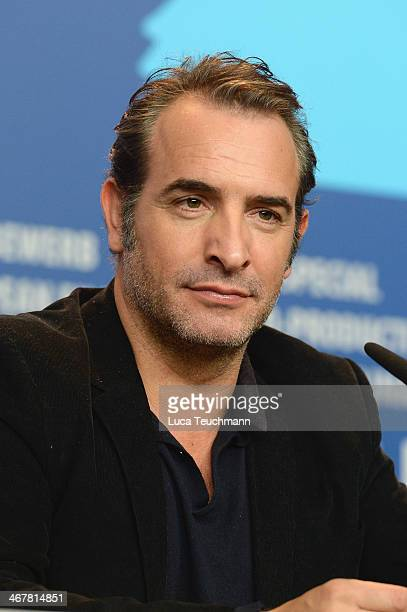 Jean Dujardin attends 'The Monuments Men' press conference during 64th Berlinale International Film Festival at Grand Hyatt Hotel on February 8, 2014...