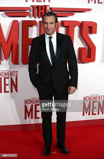 Jean Dujardin attends the UK Premiere of 'The Monuments Men' at Odeon Leicester Square on February 11 2014 in London England