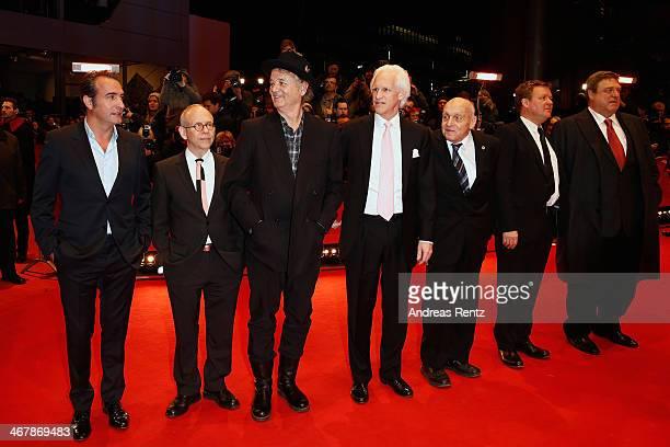Jean Dujardin Bob Balaban Bill Murray Robert Edsel Harry Ettlinger Justus von Dohnanyi and John Goodman attend 'The Monuments Men' premiere during...