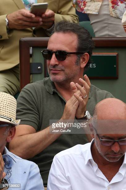 Jean Dujardin during the men's final on Day 15 of the 2018 French Open at Roland Garros stadium on June 10, 2018 in Paris, France.