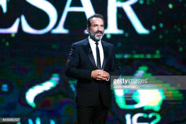 Jean Dujardin is seen on stage during the Cesar Film Awards Ceremony at Salle Pleyel on February 24 2017 in Paris France