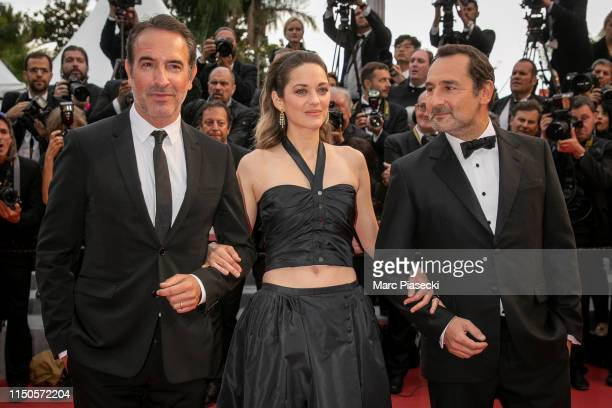 Jean Dujardin Marion Cotillard and Gilles Lellouche attend the screening of Le Belle Epoque during the 72nd annual Cannes Film Festival on May 20...