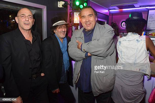 Jean Eric Macheray Rachid Taha and Jean Marc Truong attend the James Arch Party At The River's King boat on october 9 2014 in Paris France
