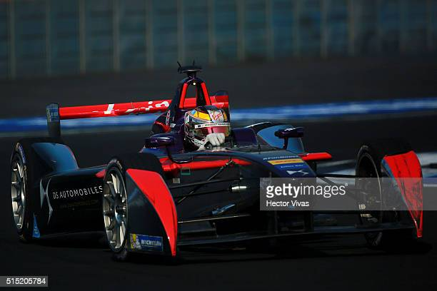 Jean Eric Vergne of France and DS Virging Racing Formula E Team during the Mexico City Formula E Championship 2016 at Autodromo Hermanos Rodriguez on...